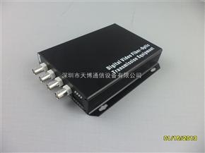4路视频加数据单纤数字光端机