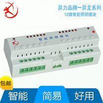 12路智能照明开关驱动执行器-12回路输出智能照明控制器