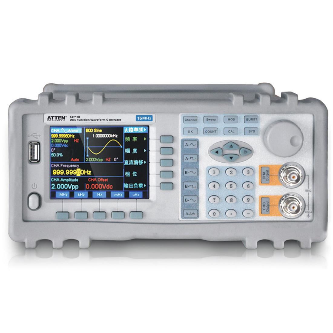 """选件介绍 1.频率计数器:如果用户选购了频率计数器,则仪器内会安装频率计数功能模块,其输入端连接到后面板上的""""外测输入""""插座。关于这个选件的使用方法在说明书中有详细叙述。 频率测量范围:1Hz~100MHz 输入信号幅度:100mVpp~20Vpp 2.功率放大器:如果用户选购了功率放大器,则机箱内会安装一块功率放大器板,这是一个与仪器无关的独立部件,其输入端连接到后面板上的""""功放输入""""插座,输出端连接到后面板上的""""2倍功放输出""""插"""