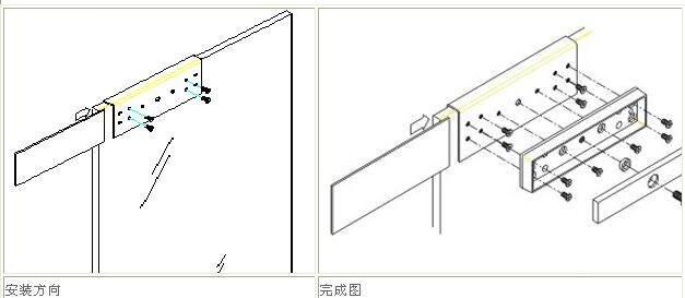 适用于无框玻璃门安装磁力锁时.