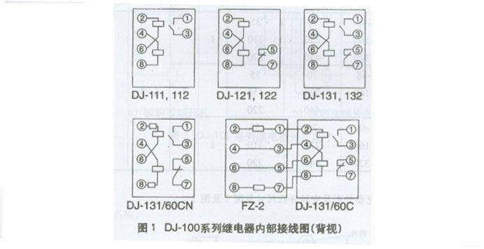 电压继电器外形尺寸/接线图--约瑟继电器厂-专业继电