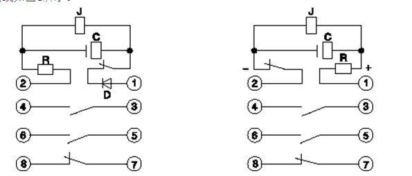 DX-3型闪光继电器 1、应用范围 DX-3型继电器作信号指示之用,当被保护系统发生故障,主保护继电器动作时,通过闪光继电器的触点控制各种等灯光信号。 当继电器的供电回路,在继电器上加额定电压时,并联电容经附加电阻充电,电压逐渐升高,当电压升高到中间继电器的动作电压时,继电器动作,断开供电回路。此时电容器经中间继电器放电,保持继电器动作位置电压逐渐下降,当电容器两端下降到中间继电器的返回电压时,继电器释放,可动部分返回原来位置,接通供电回路,开始重复上述循环。 继电器的内部接线如图1所示。 额定值: DC